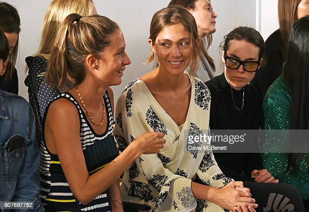 Jemima Jones Quentin Jones and Tallulah Harlech attend the Pringle Of Scotland Womenswear Spring/Summer 2017 LFW Show at One Marylebone on September...