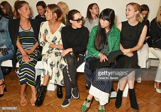 Jemima Jones Quentin Jones Tallulah Harlech Susanna Lau and Portia Freeman attend the Pringle Of Scotland Womenswear Spring/Summer 2017 LFW Show at...