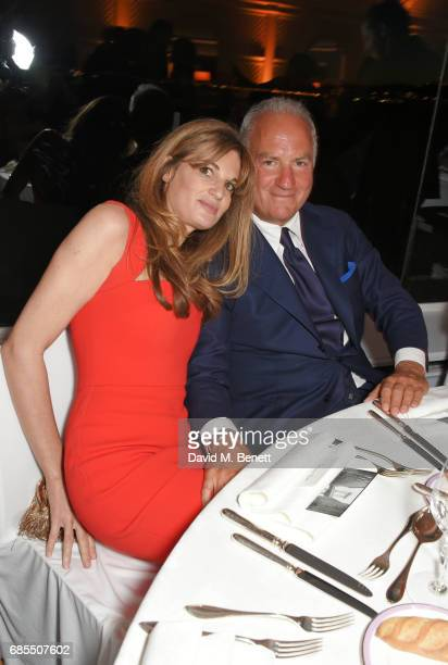 Jemima Khan and Charles Finch attend The 9th Annual Filmmakers Dinner hosted by Charles Finch and JaegerLeCoultre at Hotel du CapEdenRoc on May 19...