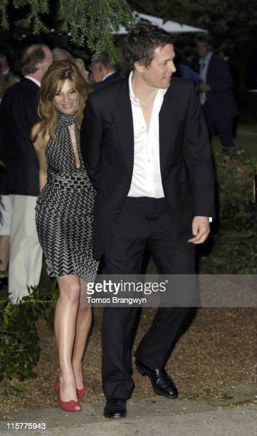 Jemima Khan and Hugh Grant during David Frost Summer Party July 5 2006 at Carlyle Square in London Great Britain