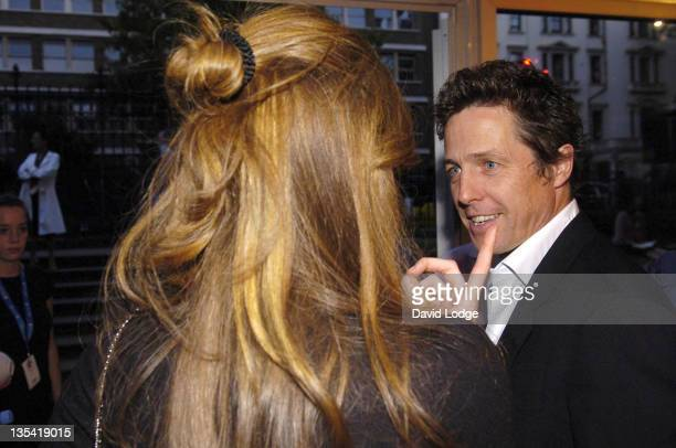 Jemima Khan and Hugh Grant during Hugh Grant and Jemima Khan Sighting Outside BIBA Fashion Show September 19 2006 at BFC Tent in London Great Britain