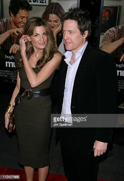 Jemima Khan and Hugh Grant during 'Music and Lyrics' New York Premiere Outside Arrivals at Ziegfeld Theater in New York City New York United States