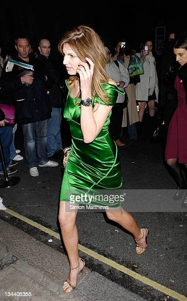 Jemima Khan arrives at the Finch Partners Pre BAFTA Party on February 9 2008 in London England