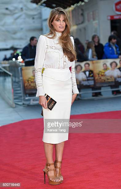 Jemima Khan arrives for the UK film premiere of 'Florence Foster Jenkins' at Odeon Leicester Square on April 12 2016 in London England