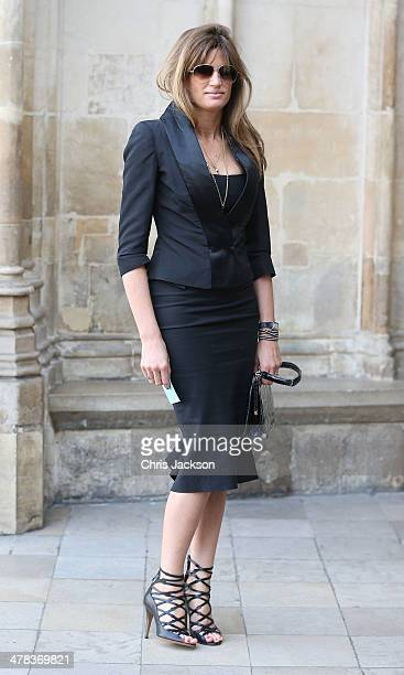 Jemima Khan attends a memorial service for Sir David Frost at Westminster Abbey on March 13 2014 in London England