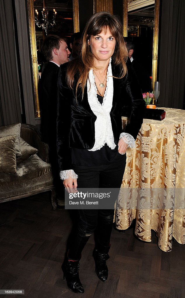 Jemima Khan attends a party celebrating Patrick Cox's 50th Birthday party at Cafe Royal on March 15, 2013 in London, England.