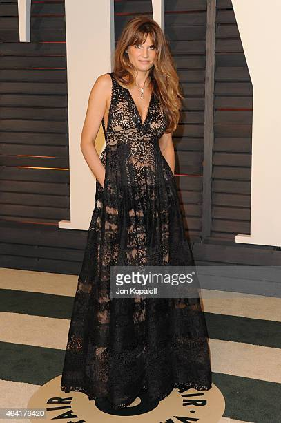 Jemima Khan attends the 2015 Vanity Fair Oscar Party hosted by Graydon Carter at Wallis Annenberg Center for the Performing Arts on February 22 2015...