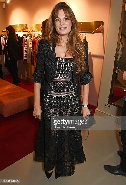 Jemima Khan attends the Bella Freud store launch in Marylebone on December 9 2015 in London England