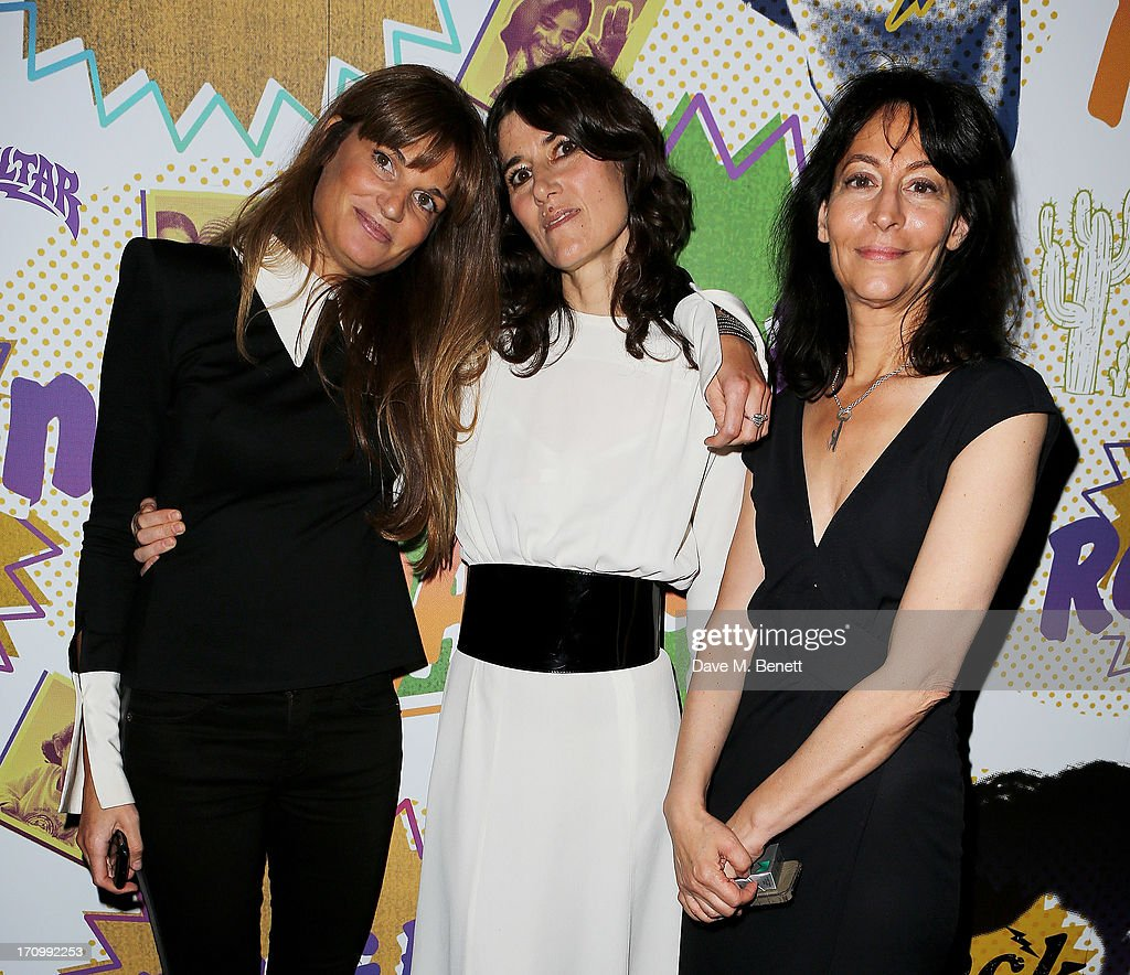 Jemima Khan, Bella Freud and Karma Nabulsi attend The Hoping Foundation's 'Rock On', a benefit evening for Palestinian refugee children, at Cafe de Paris on June 20, 2013 in London, England.