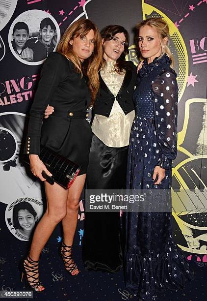 Jemima Khan Bella Freud and Laura Bailey arrive at The Hoping Foundation's 'Starry Starry Night' Benefit Evening For Palestinian Refugee Children at...