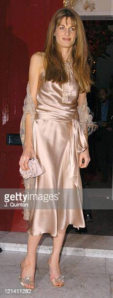 Jemima Khan during Cancer Research UK Fundraiser Dinner and Party at Morton's Restaurant in London Great Britain