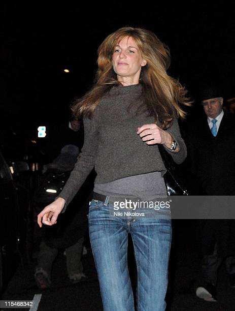 Jemima Khan during Hugh Grant and Jemima Khan Sighting at Scotts February 01 2007 at Scotts Restaurant in London Great Britain