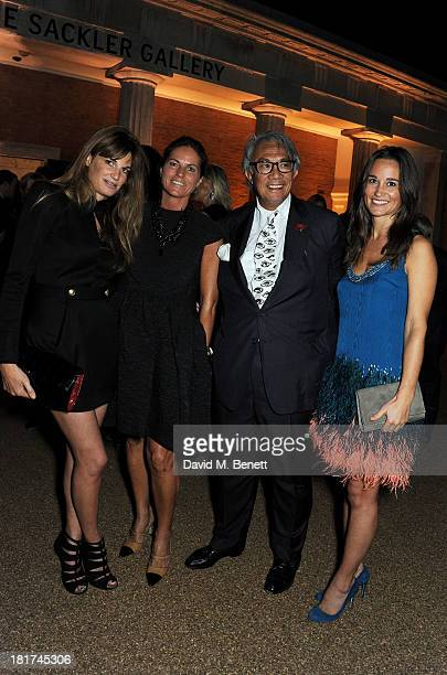 Jemima Khan Lady Lucy Tang Sir David Tang and Pippa Middleton attend a donors dinner hosted by Michael Bloomberg Graydon Carter to celebrate the...