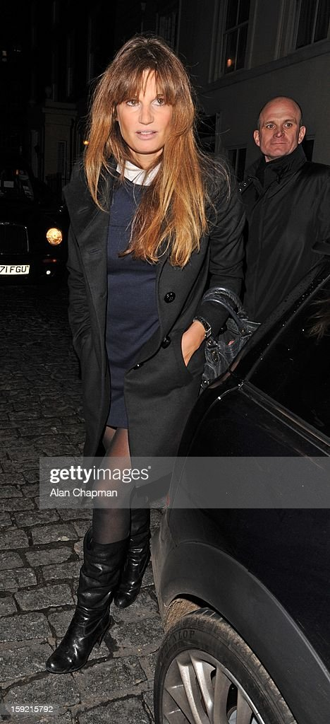 Jemima Khan sighting at Loulou's on January 9, 2013 in London, England.