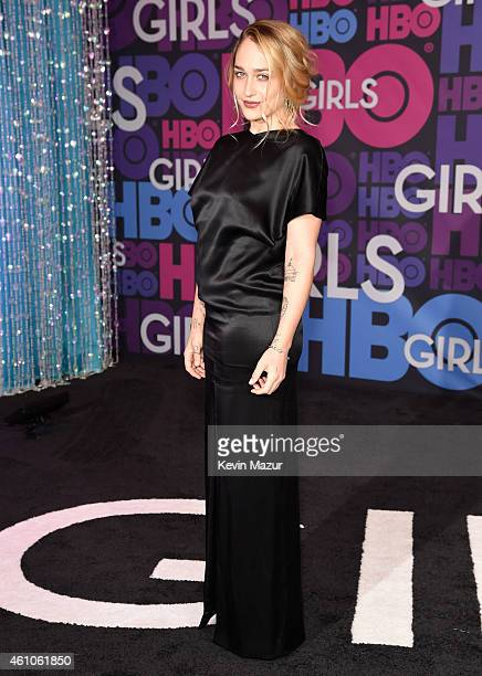Jemima Kirke attends the 'Girls' season four premiere at American Museum of Natural History on January 5 2015 in New York City