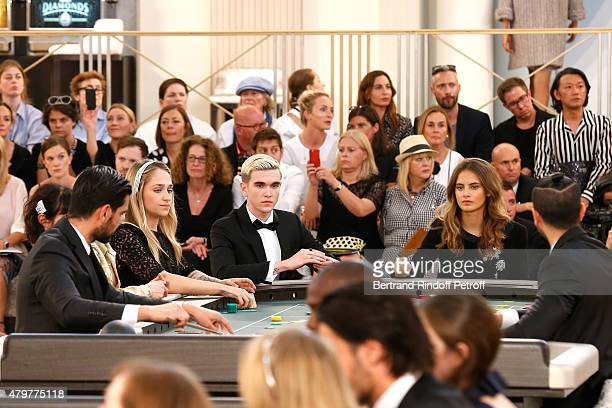 Jemima Kirke GabrielKane DayLewis and Violette d'Urso attend the Chanel show as part of Paris Fashion Week Haute Couture Fall/Winter 2015/2016 Held...