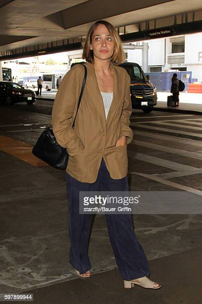 Jemima Kirke is seen at LAX on August 29 2016 in Los Angeles California