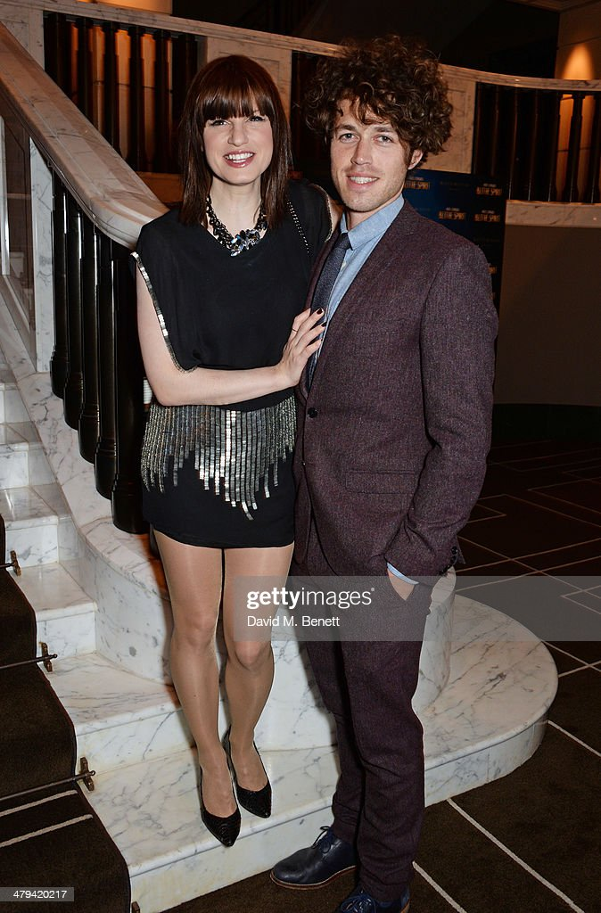 Jemima Rooper and Ben Ockrent attend an after party celebrating the press night performance of 'Blithe Spirit' at the Rosewood Hotel on March 18 2014...
