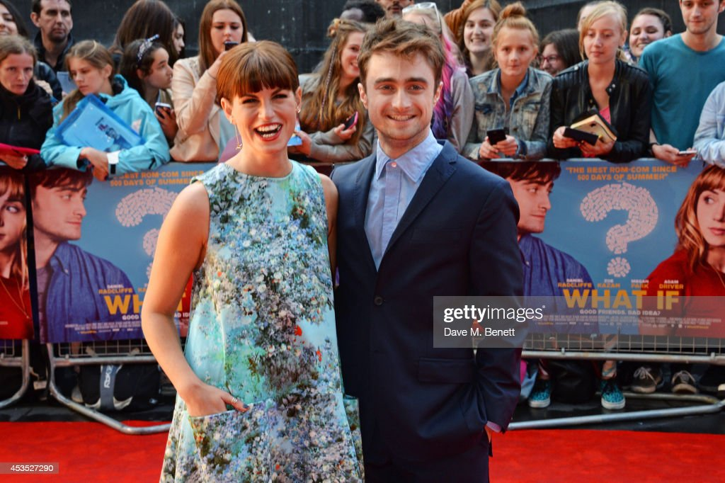 Jemima Rooper and Daniel Radcliffe attend the UK Premiere of 'What If' at Odeon West End on August 12 2014 in London England