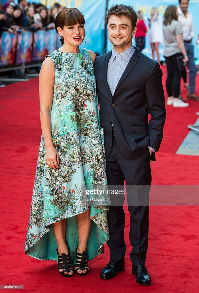 Jemima Rooper and Daniel Radcliffe attends the UK Premiere of 'What If' at Odeon West End on August 12 2014 in London England