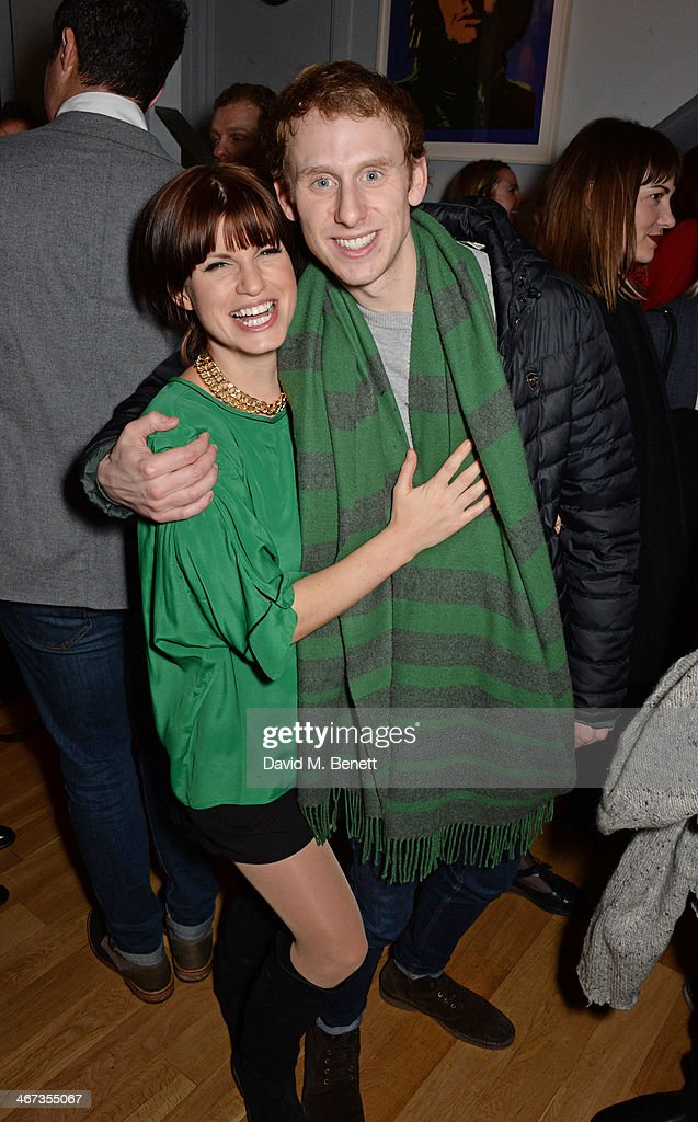 Jemima Rooper and Robert Emms attend an after party for the Murray Parish Trust inaugural art auction at The Groucho Club on February 6 2014 in...