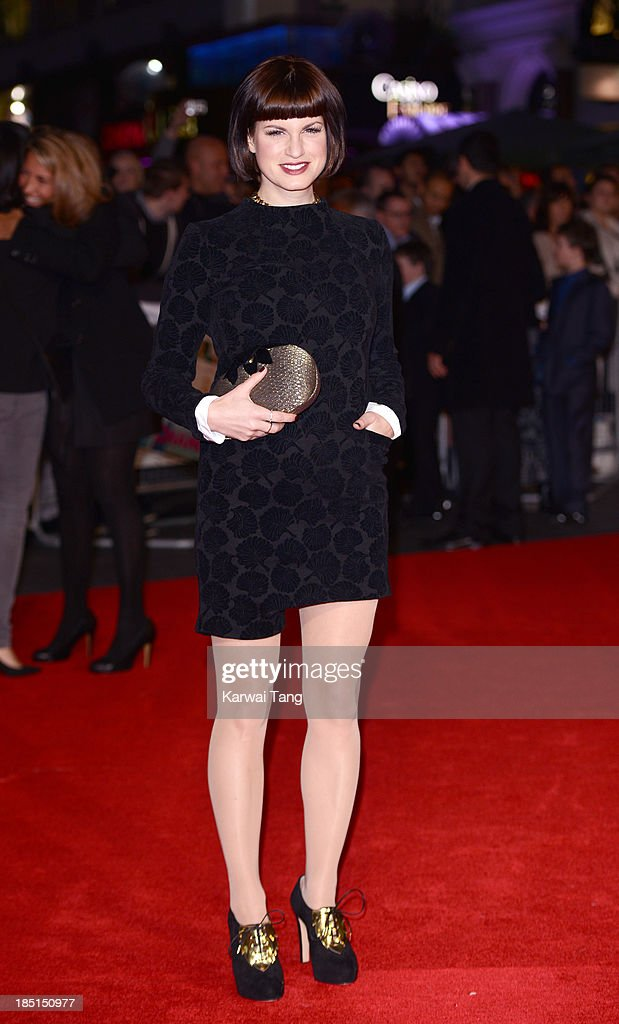Jemima Rooper attends the European premiere of 'One Chance' at the Odeon Leicester Square on October 17 2013 in London England