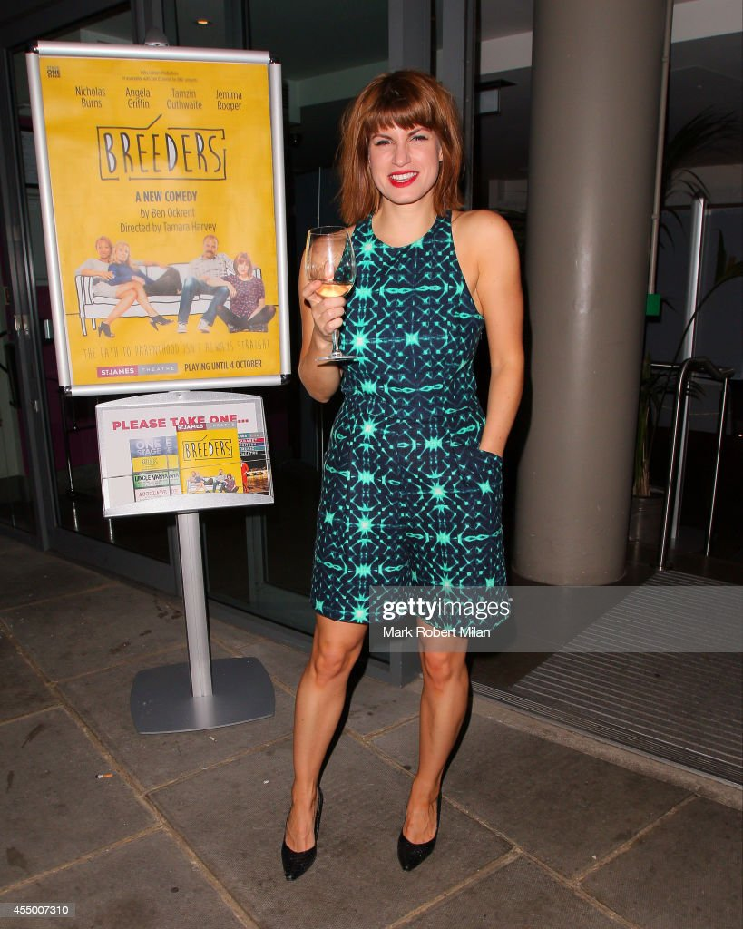Jemima Rooper leaving a performance of Breeders at the Palace theatre on September 8 2014 in London England