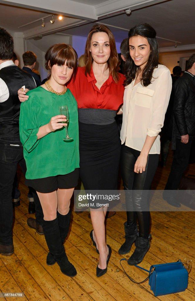 Jemima Rooper Sarah Parish and Aiysha Hart attend the Murray Parish Trust inaugural art auction at The Gallery Soho on February 6 2014 in London...
