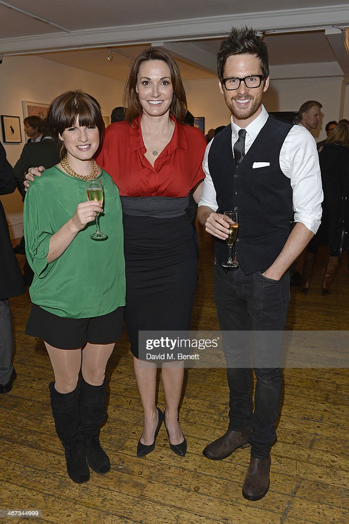 Jemima Rooper Sarah Parish and Tom Riley attend the Murray Parish Trust inaugural art auction at The Gallery Soho on February 6 2014 in London England