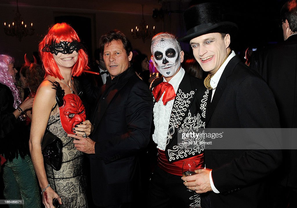 Jemma Kidd, Arki Busson, Patrick Cox and Arthur Wellesley attend the UNICEF UK Halloween Ball hosted by Jemima Khan, raising vital funds for UNICEF's work for children affected by the current Syria crisis, at One Mayfair on October 31, 2013 in London, England. All money raised for Unicef from today - and for the next three months - will be matched pound for pound by the UK Government to help the children of Syria. Text 'Syria' to 70007 to give £5 to help UNICEF reach even more children caught up in the crisis.