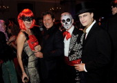 Jemma Kidd Arki Busson Patrick Cox and Arthur Wellesley attend the UNICEF UK Halloween Ball hosted by Jemima Khan raising vital funds for UNICEF's...