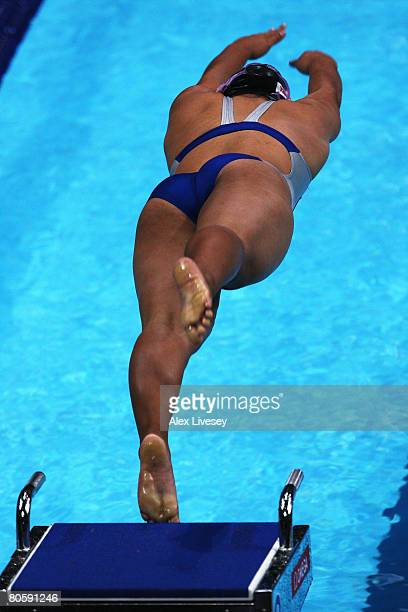 Jemma Lowe of United Kingdom competes in the Women's 50m Butterfly Heat during the ninth FINA World Swimming Championships at the MEN Arena on April...