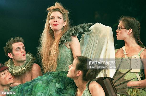 Jemma Redgrave as Titania surrounded by her fairy helpers