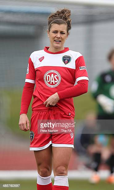 Jemma Rose of Bristol Academy Women in action during the FA WSL 1 match between Manchester City Women and Bristol Academy Women at Manchester...