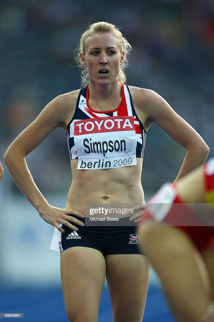 Jemma Simpson of Great Britain & Northern Ireland competes in the women's 800 Metres Semi-Final during day three of the 12th IAAF World Athletics Championships at the Olympic Stadium on August 17, 2009 in Berlin, Germany.