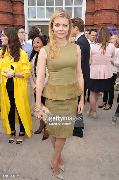 Jemma Wellesley Marchioness of Douro attends The Ralph Lauren Vogue Wimbledon Summer Cocktail Party hosted by Alexandra Shulman and Boris Becker at...