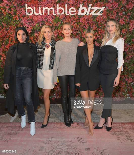 Jen Atkin Whitney Wolfe Herd Erin Foster Kim Kardashian and Sara Foster attend Bumble Bizz Los Angeles Launch Dinner At Nobu Malibu at Nobu Malibu on...