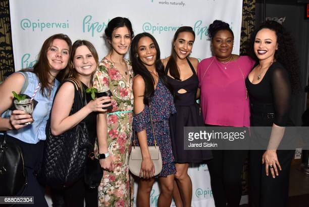 Jen Black Kate Arian Jess Edelstein Sarah Ribner Noel Elie Adrienne Moore and Elle Varner attend PiperWai NYC Launch Event at Vnyl on May 24 2017 in...