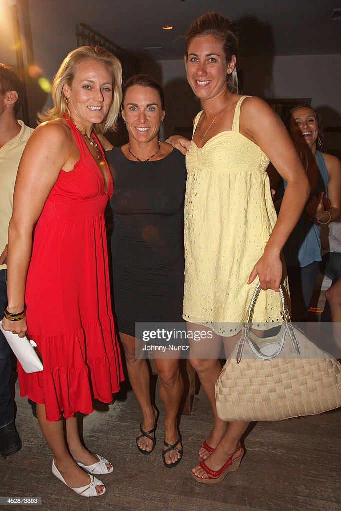 jen boss holly mcpeak and april ross attend the 25th anniversary celebration of avp pro