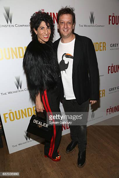 Jen Cohn and Robert Siegel attend The Weinstein Company with Grey Goose Host a Screening of 'The Founder' on January 18 2017 in New York City