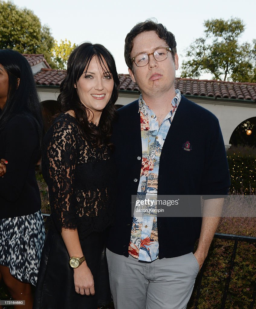 Jen Kirkman and Allan McLeod attend Comedy Central's 'Drunk History' Premiere Party at The Wilshire Ebell Theatre on July 8, 2013 in Los Angeles, California.