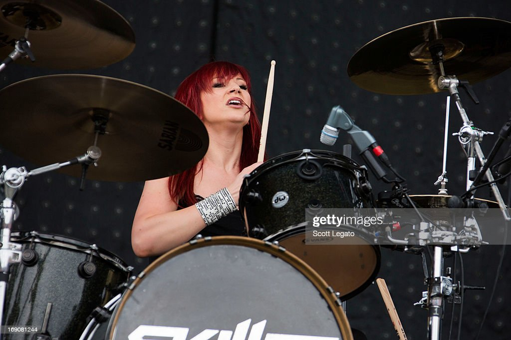 Jen Ledger of Skillet performs during 2013 Rock On The Range at Columbus Crew Stadium on May 19, 2013 in Columbus, Ohio.