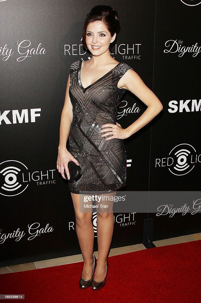 Jen Lilley arrives at the launch of the Redlight Traffic APP - Dignity Gala held at The Beverly Hilton Hotel on October 18, 2013 in Beverly Hills, California.