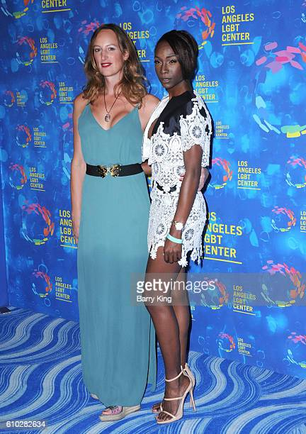 Jen Richards and Angelica Ross attend the Los Angeles LGBT 47th Anniversary Gala at Pacific Design Center on September 24 2016 in West Hollywood...