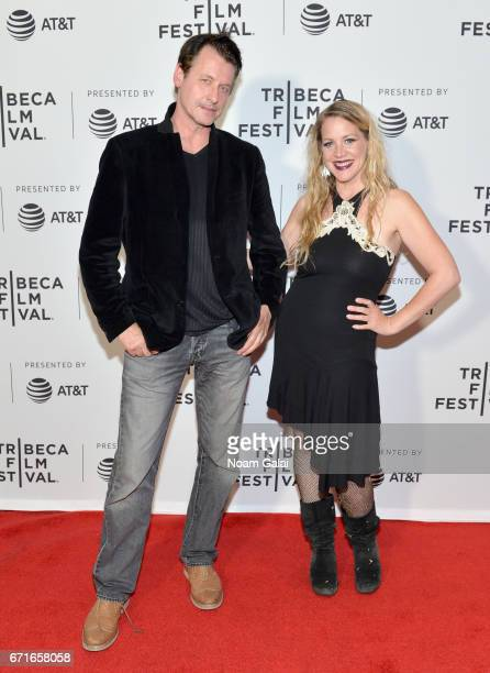 Jen Samuel and guest attend 'The Last Animals' Premiere during 2017 Tribeca Film Festival at Cinepolis Chelsea on April 22 2017 in New York City
