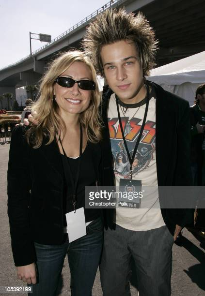 Jen Schefft and Ryan Cabrera during 3rd Annual Cadillac Super Bowl Grand Prix for Charity at CSX in Jacksonville Florida United States