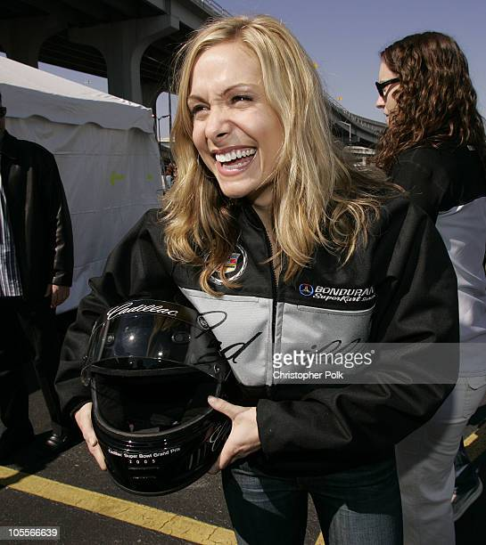 Jen Schefft during 3rd Annual Cadillac Super Bowl Grand Prix for Charity at CSX in Jacksonville Florida United States