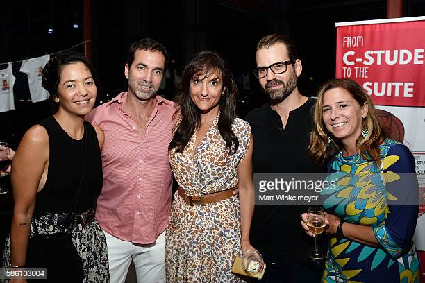 Jen Tiexiera August Anna Maria Matt Schrap and editor Brooke White attend the book launch for 'From CStudent to the CSuite Leveraging Emotional...