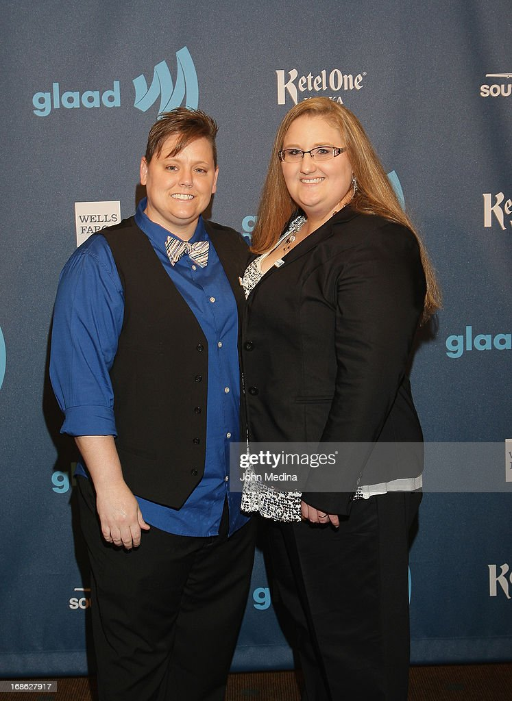 Jen Tyrrell and partner Alicia Burns attend the 24th Annual GLAAD Media Awards at the Hilton San Francisco - Union Square on May 11, 2013 in San Francisco, California.