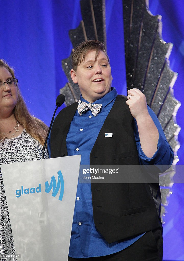 Jen Tyrrell, who was ousted from her son's boyscout troop for being gay, attends the 24th Annual GLAAD Media Awards at the Hilton San Francisco - Union Square on May 11, 2013 in San Francisco, California.